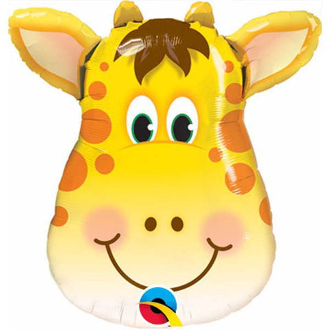 "14"" Shape Foil Jolly Giraffe #41790 - Each (Unpkgd.)"
