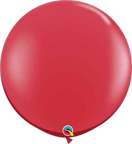3ft Round Ruby Red Qualatex Plain Latex #43057 - Pack of 2