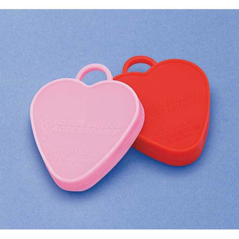 Heavy Weight 100 Gram  Assorted Red & Pink Hearts #43174 - Pack of 10