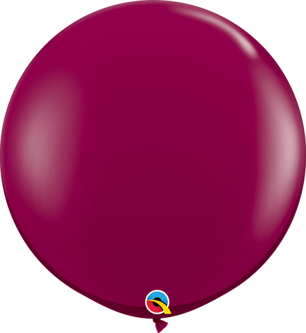 3ft Round Sparkling Burgundy Qualatex Plain Latex #43367 - Pack of 2