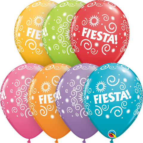 "11"" Round Festive Assorted Fiesta Swirls #43401 - Pack of 50"