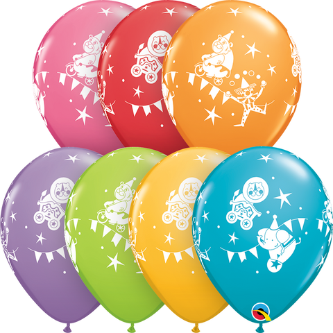 "11"" Round Festive Assorted Circus Parade #43403 - Pack of 50"