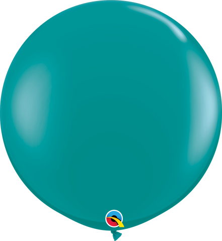 3ft Round Jewel Teal Qualatex Plain Latex #43458 - Pack of 2