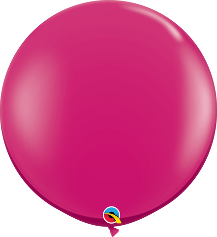 3ft Round Jewel Magenta Qualatex Plain Latex #43492 - Pack of 2
