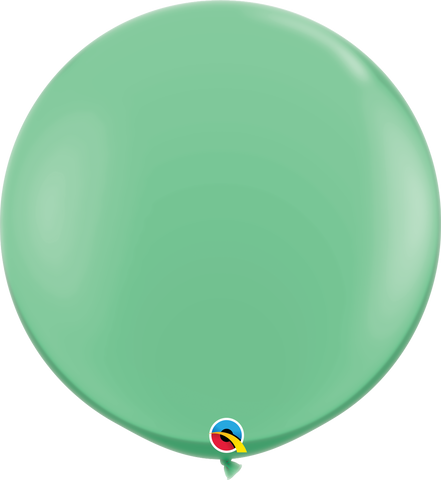 3ft Round Wintergreen Qualatex Plain Latex #43513 - Pack of 2