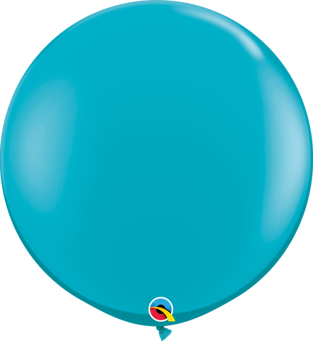 3ft Round Tropical Teal Qualatex Plain Latex #43514 - Pack of 2