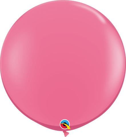 3ft Round Rose Qualatex Plain Latex #43640 - Pack of 2