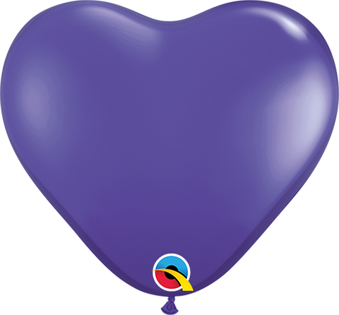 "06"" Heart Quartz Purple Qualatex Plain Latex #43643 - Pack of 100"