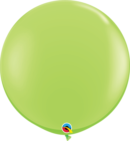 3ft Round Lime Green Qualatex Plain Latex #43660 - Pack of 2