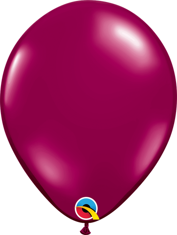 "16"" Round Sparkling Burgundy Qualatex Plain Latex #43859 - Pack of 50"