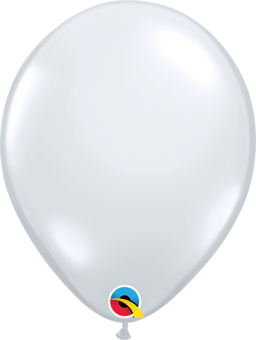 "18"" Round Diamond Clear Qualatex Plain Latex wide-neck Stuffing Balloon #37547 - Pack of 25"
