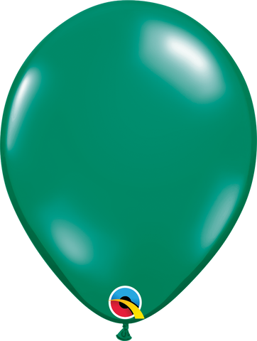 "16"" Round Emerald Green Qualatex Plain Latex #43863 - Pack of 50"