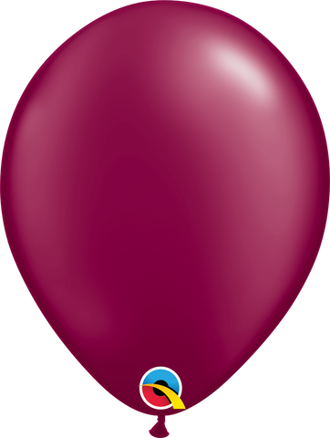 "05"" Round Pearl Burgundy Qualatex Plain Latex #43578 - Pack of 100"