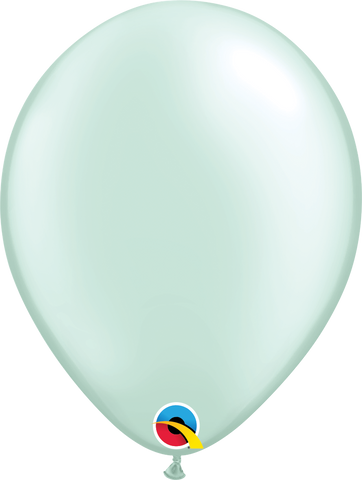 "16"" Round Pearl Mint Green Qualatex Plain Latex #43891 - Pack of 50"