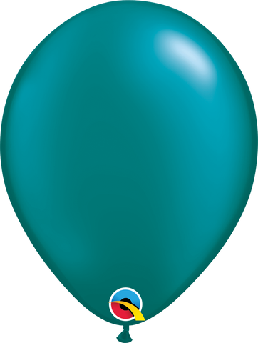"11"" Round Pearl Teal Qualatex Plain Latex #39821 - Pack of 25"