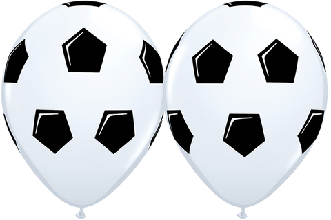 "11"" Round White Soccer Ball / Football #44864 - Pack of 50"