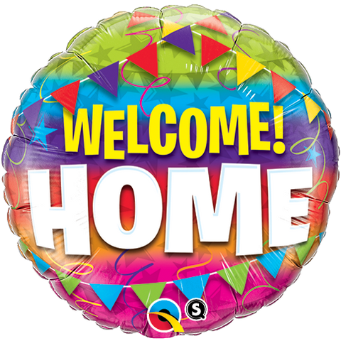 "18"" Round Foil Welcome Home Pennants #45245 - Each (Pkgd.)"