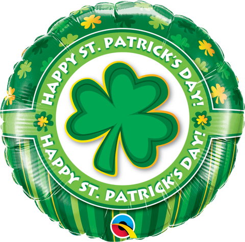 "18"" Round Foil Happy St. Patrick's Day #46056 - Each (Pkgd.)"