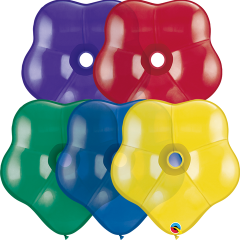 "16"" Blossom Radiant Jewel Assorted Qualatex Plain Latex Blossom #48884 - Pack of 50"