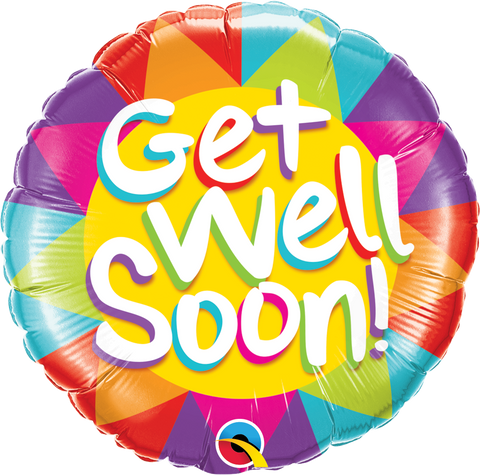 "18"" Round Foil Get Well Soon Sunshine #49206 - Each (Pkgd.)"