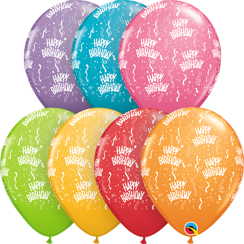 "11"" Round Festive Assorted Bday-A-Round #49607 - Pack of 50"