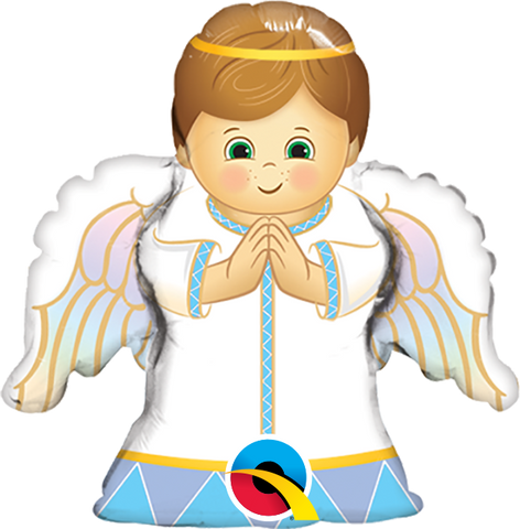 "14"" Shape Foil Angel Boy #49788 - Each (Unpkgd.)"