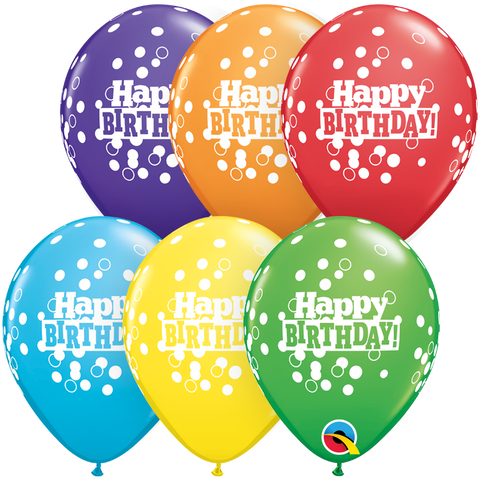 "05"" Round Bright Rainbow Assorted Bday Confetti Dots #52973 - Pack of 100"