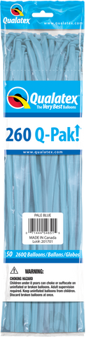 260 Q-Pak Pale Blue Qualatex Plain Latex #54651 - Pack of 50