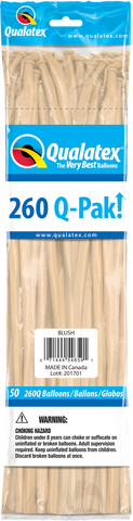260 Q-Pak Blush Qualatex Plain Latex #54659 - Pack of 50