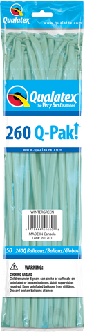 260 Q-Pak Wintergreen Qualatex Plain Latex #54680 - Pack of 50