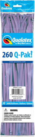 260 Q-Pak Spring Lilac Qualatex Plain Latex #54686 - Pack of 50