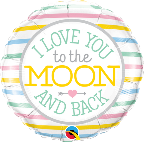 "18""  Round Foil I Love You To The Moon #55382 - Each (Pkgd.)"