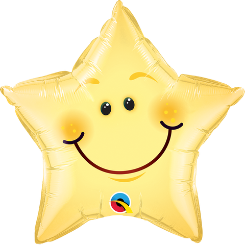 "20"" Star Foil Smiley Face Star #55394 - Each (Pkgd.)"