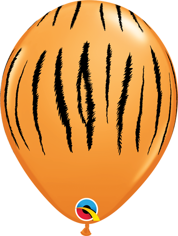 "11"" Round Orange Tiger Stripes #55474 - Pack of 50"