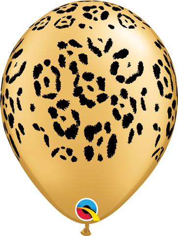 "11"" Round Gold Leopard Spots #55478 - Pack of 50"