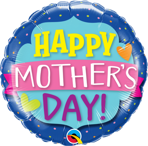 "18"" Round Foil Mother's Day Emblem Banner #55833 - Each (Pkgd.)"