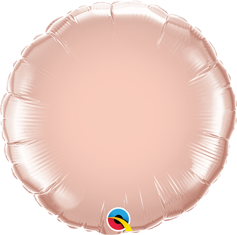"18"" Round Rose Gold Plain Foil #57050 - Each (pkgd.)"