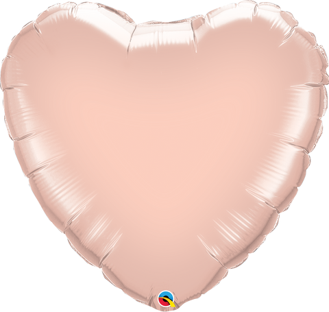 "18"" Heart Rose Gold Plain Foil #57047 - Each (Pkgd.)"