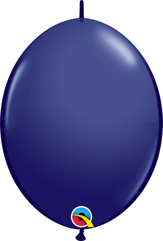 "12"" Quick Link Navy Qualatex Quick Link Balloons #57146 - Pack of 50"