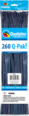260 Q-Pak Navy Qualatex Plain Latex #57212 - Pack of 50