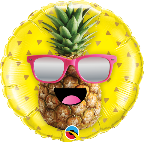 "09"" Round Foil Mr Cool Pineapple #58446 - Each (Unpkgd.)"