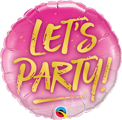 "09"" Round Foil Let's Party! #58444 - Each (Unpkgd.)"