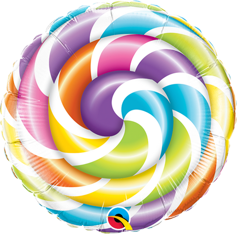 "09"" Round Foil Lollipop #58457 - Each (Unpkgd.)"