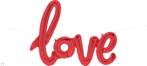 "40"" Script Foil Love Red #59788 - Each (Pkgd.)"