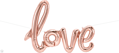 "40"" Script Foil Love Rose Gold #59790 - Each (Pkgd.)"