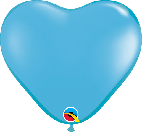 "06"" Heart Pale Blue Qualatex Plain Latex #60189 - Pack Of 100"