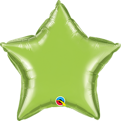 "36"" Star Lime Green Plain Foil #16165 - Each (Unpkgd.)"