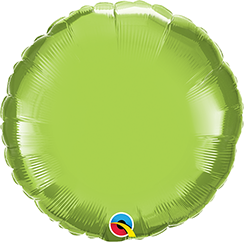 "18"" Round Foil Lime Green Plain Foil #73310 - Each (Unpkgd.)"
