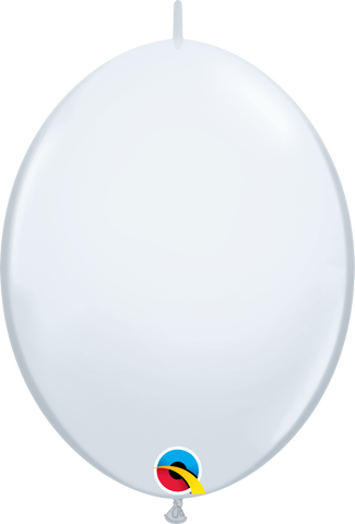 "12"" Quick Link White Qualatex Quick Link Balloons #64151 - Pack of 50"