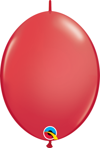 "12"" Quick Link Red Qualatex Quick Link Balloons #65213 - Pack of 50"